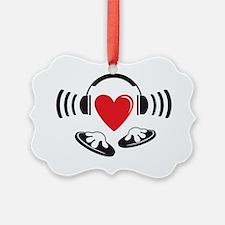 Love the DJ, love to DJ headphone Ornament