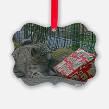 Snow Leopard and Presetn Ornament