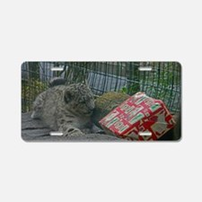 Snow Leopard and Presetn Aluminum License Plate