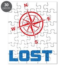 Compass North East South and West with lost Puzzle
