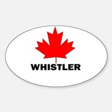 Whistler, British Columbia Oval Bumper Stickers