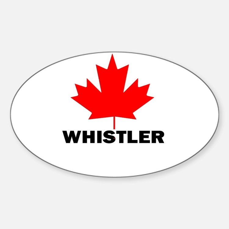Whistler, British Columbia Oval Decal