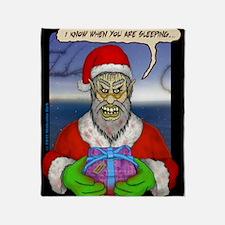 Evil Santa (I Know) Throw Blanket