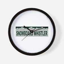 Snowboard Whistler, British C Wall Clock