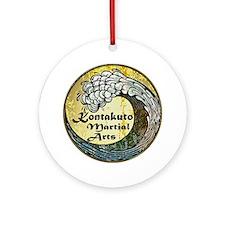 kontakuto martial arts bright Round Ornament
