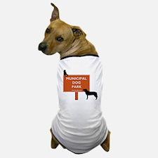 cat at dogpark Dog T-Shirt