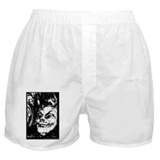 Masked in White - Digital Photography Boxer Shorts