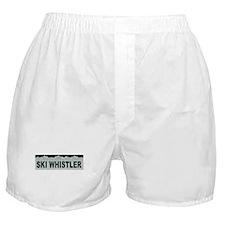 Ski Whistler, British Columbi Boxer Shorts