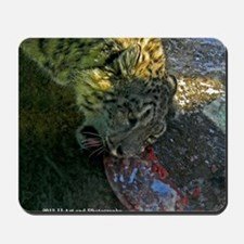 Snow Leopard and Heart Mousepad