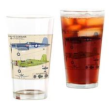 F4U Corsair Pappy Boyington Black S Drinking Glass