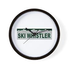 Ski Whistler, British Columbi Wall Clock