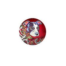 DiaLos Muertos dog Mini Button