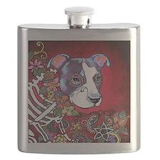 DiaLos Muertos dog Flask