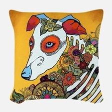 Dia Los Muertos, day of the de Woven Throw Pillow