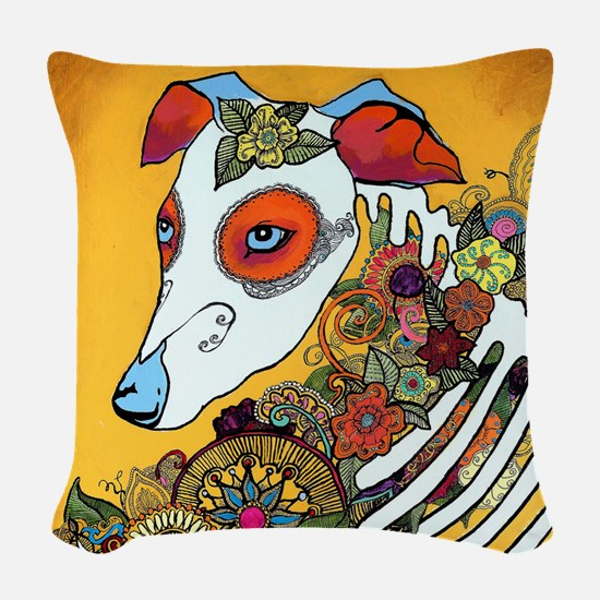 Dia Los Muertos, day of the de Woven Throw Pillow