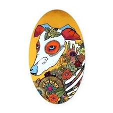 Dia Los Muertos, day of the dead,  Oval Car Magnet