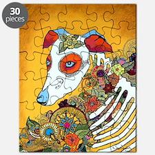 Dia Los Muertos, day of the dead, dog, Puzzle