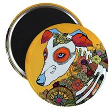 Dia Los Muertos, day of the dead, dog, Magnet