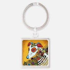 Dia Los Muertos, day of the dead,  Square Keychain