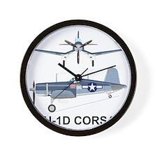 F4U Corsair Pappy Boyington Black Sheep Wall Clock