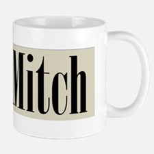 Ditch Mitch Black on Beige Mug