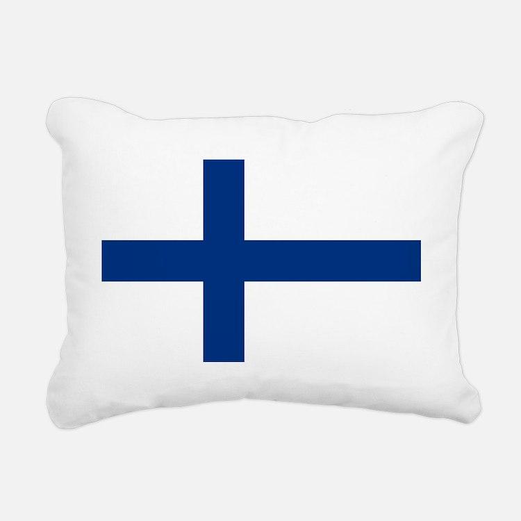 Finland/Suomi Flag Rectangular Canvas Pillow