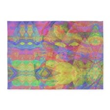 Abstract Tie Die 5'x7'Area Rug