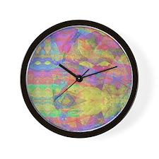 Abstract Tie Die Wall Clock