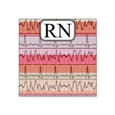 "RN case reds Square Sticker 3"" x 3"""