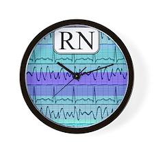 RN case blue Wall Clock