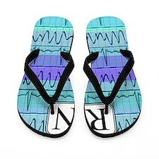 RN case blue Flip Flops