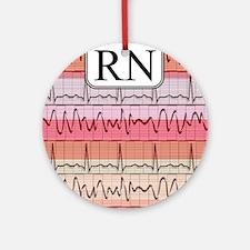 RN case reds Round Ornament