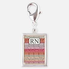 RN case reds Silver Portrait Charm