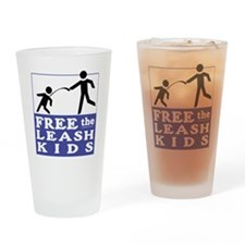 Free the Leash Kids Drinking Glass