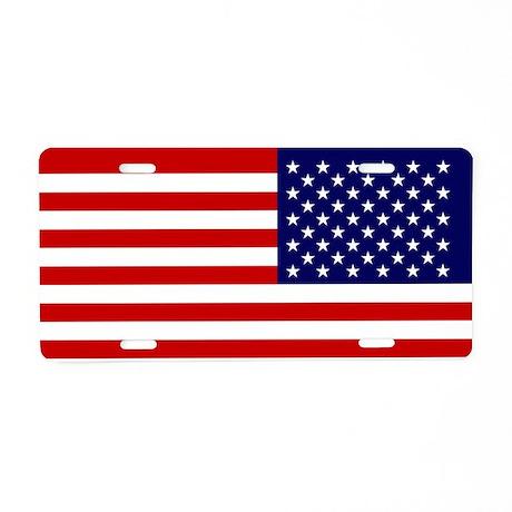 US Car Flg Back 713_H_F Aluminum License Plate