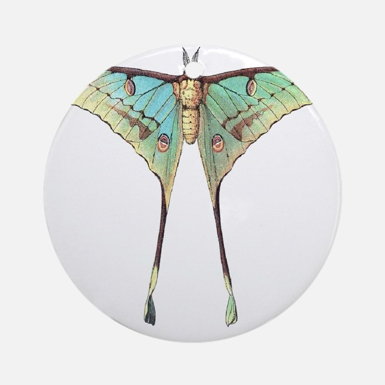 Luna moth Round Ornament