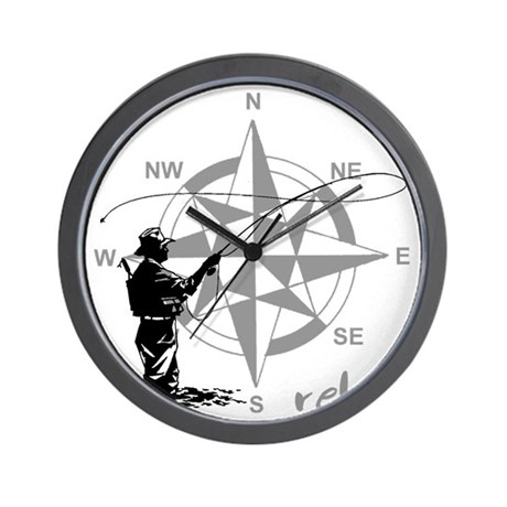 Fly Fishin Wall Clock