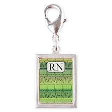 RN case green Silver Portrait Charm