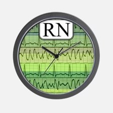 RN case green Wall Clock
