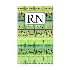 RN case green Rectangle Car Magnet
