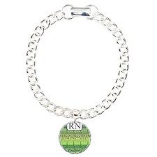 RN case green Charm Bracelet, One Charm