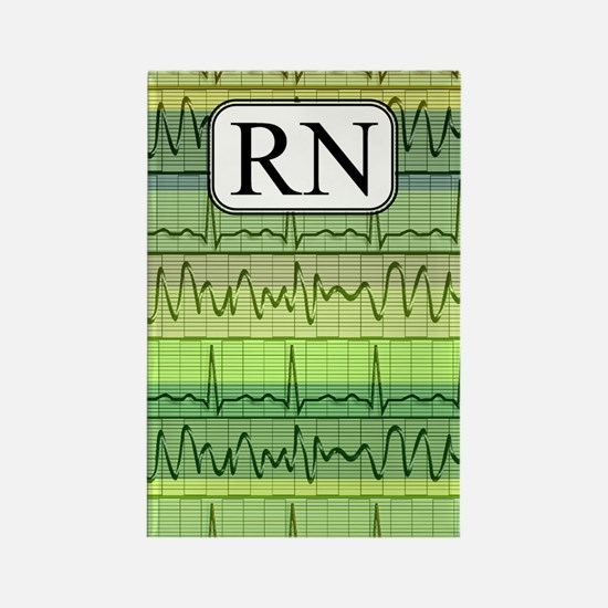 RN case green Rectangle Magnet