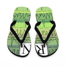 RN case green Flip Flops