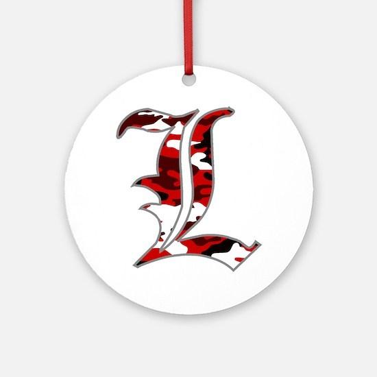 L Camo Round Ornament