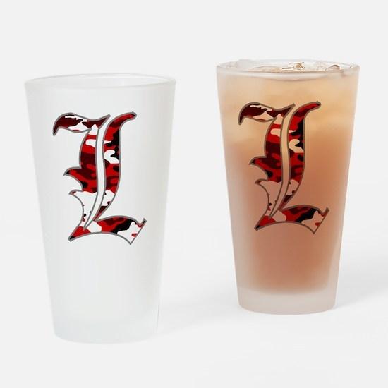 L Camo Drinking Glass