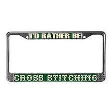 Cross Stitch License Plate Frame