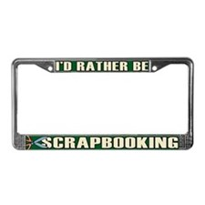 Scrapbooking License Plate Frame