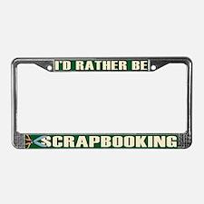 Scrapbooking License Plate Frame