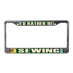 Sewing License Plate Frame