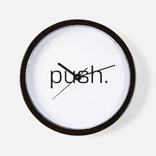 Push Wall Clock